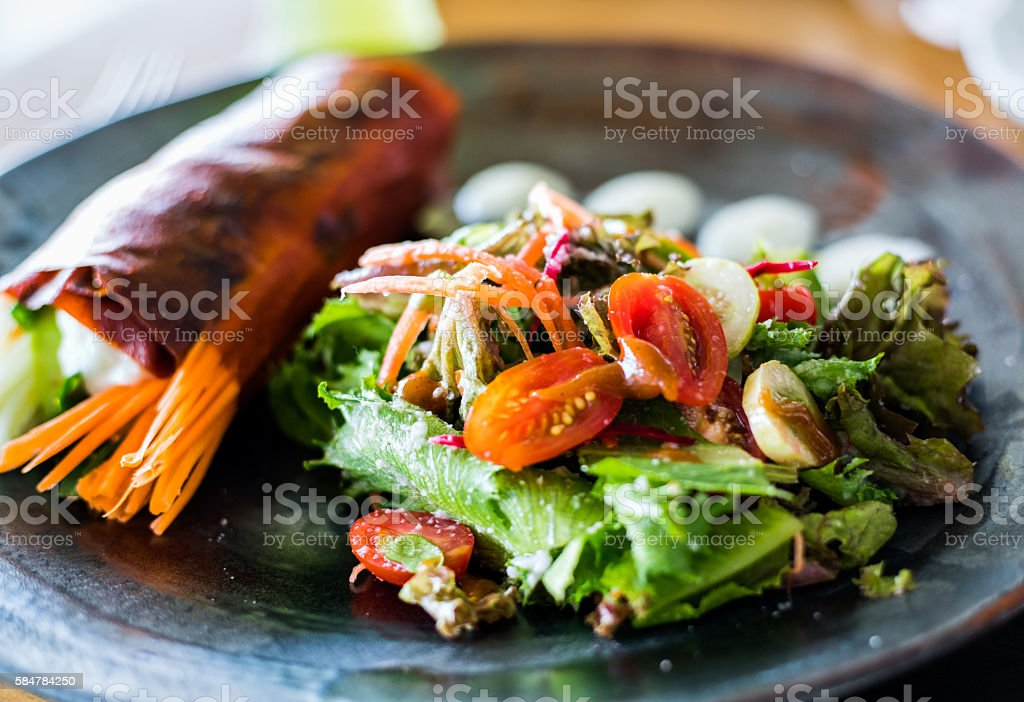 Red pepper wrap stock photo