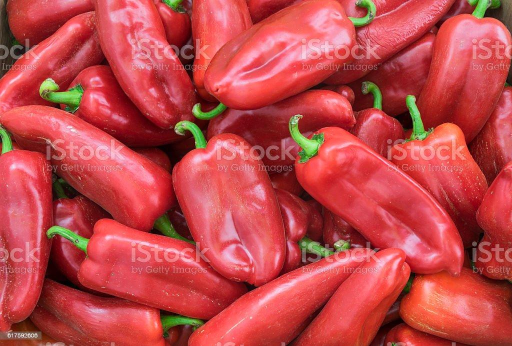 Red peppers, full frame stock photo