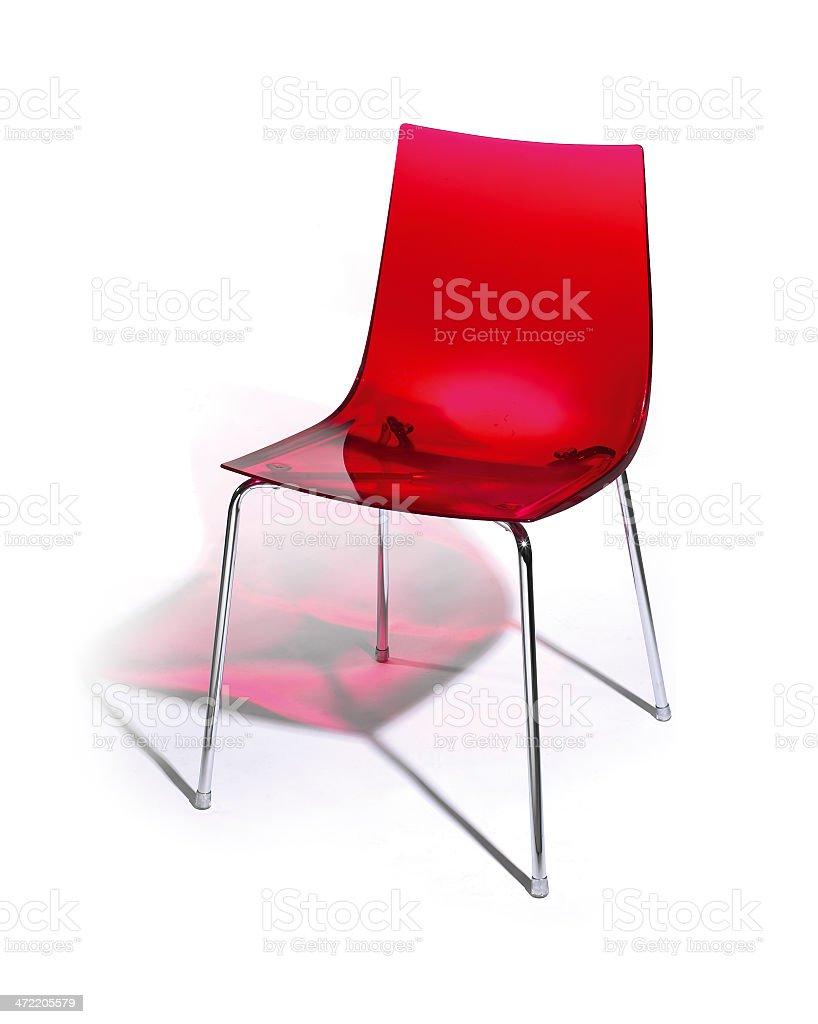 Chaise Rouge Plexiglas Photo Libre De Droits