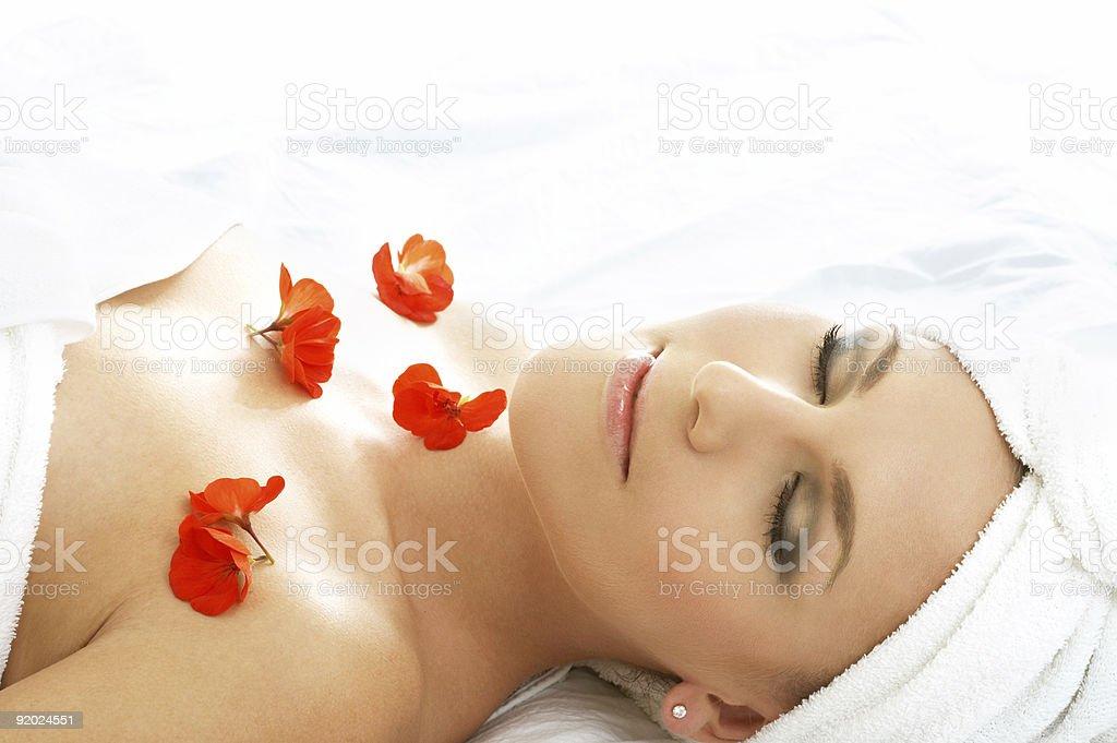 red petals spa #3 royalty-free stock photo