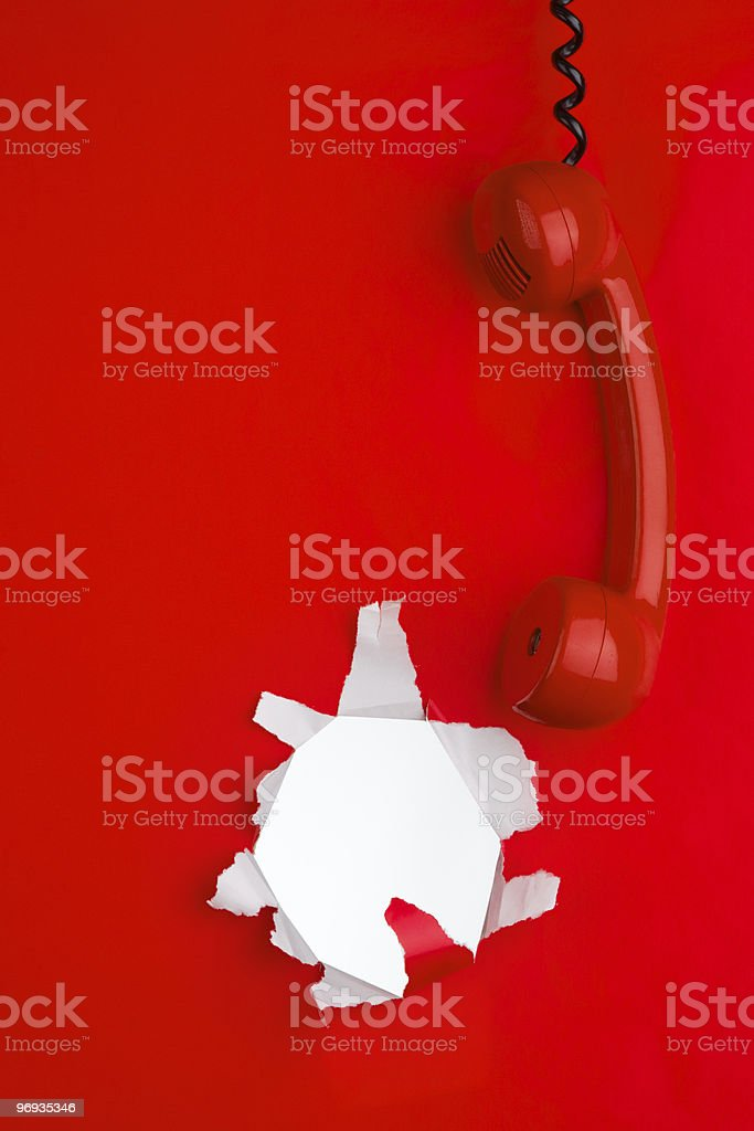 Red phone and money royalty-free stock photo