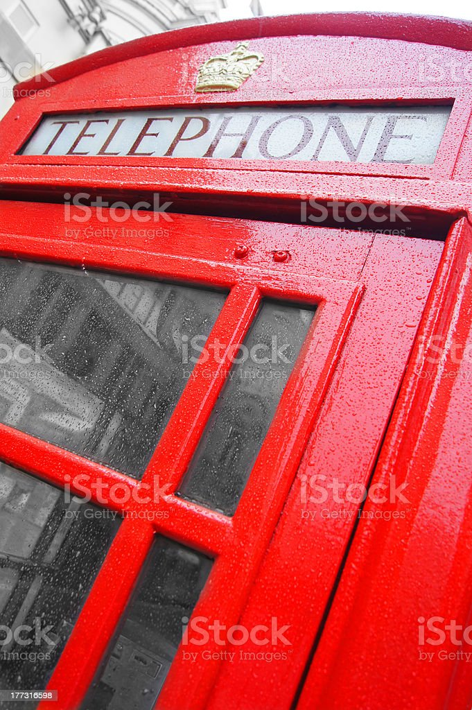 Red Phone Booth in London royalty-free stock photo