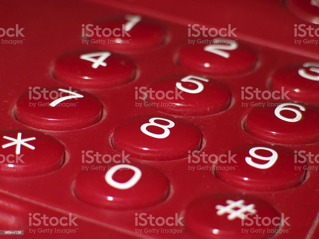 red phone keyboard royalty-free stock photo