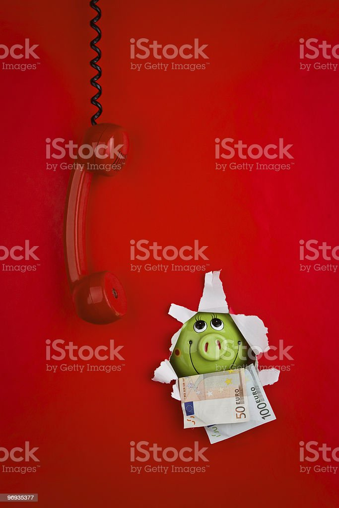Red phone on background royalty-free stock photo