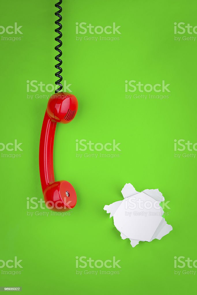 Red Phone Receiver royalty-free stock photo