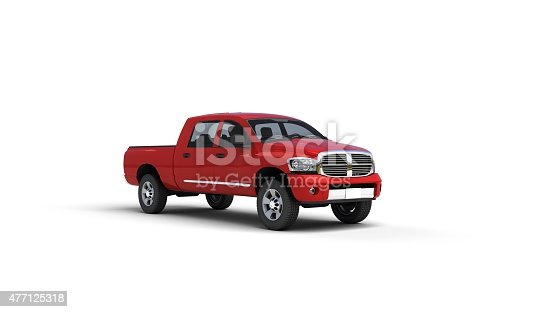 istock red pick up truck 477125318