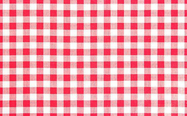 red picnic cloth background. - チェック ストックフォトと画像