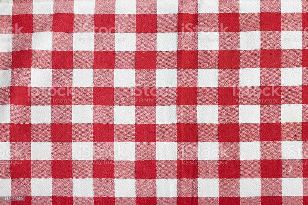 ... Red Picnic Tablecloth Stock Photo ...
