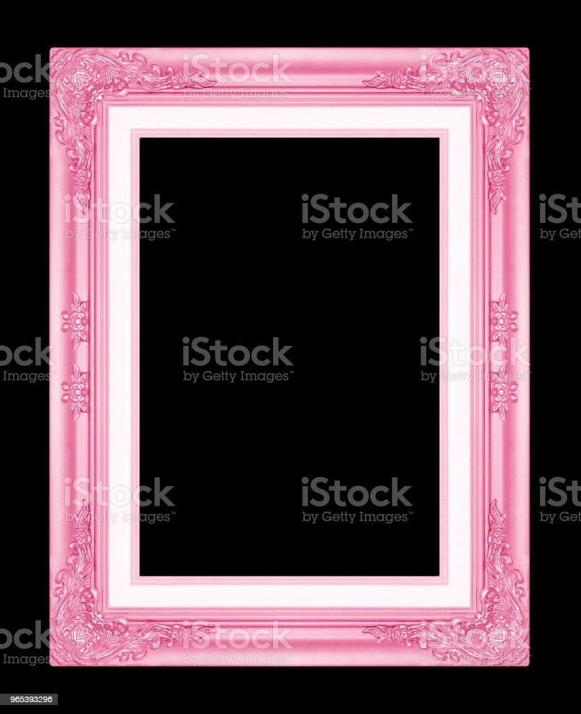red picture frame isolated on black background. royalty-free stock photo