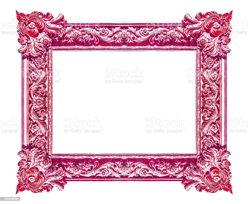 Red picture frames. Isolated on white background royalty-free stock photo