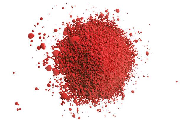 Rouge pile de couleur sur blanc - Photo