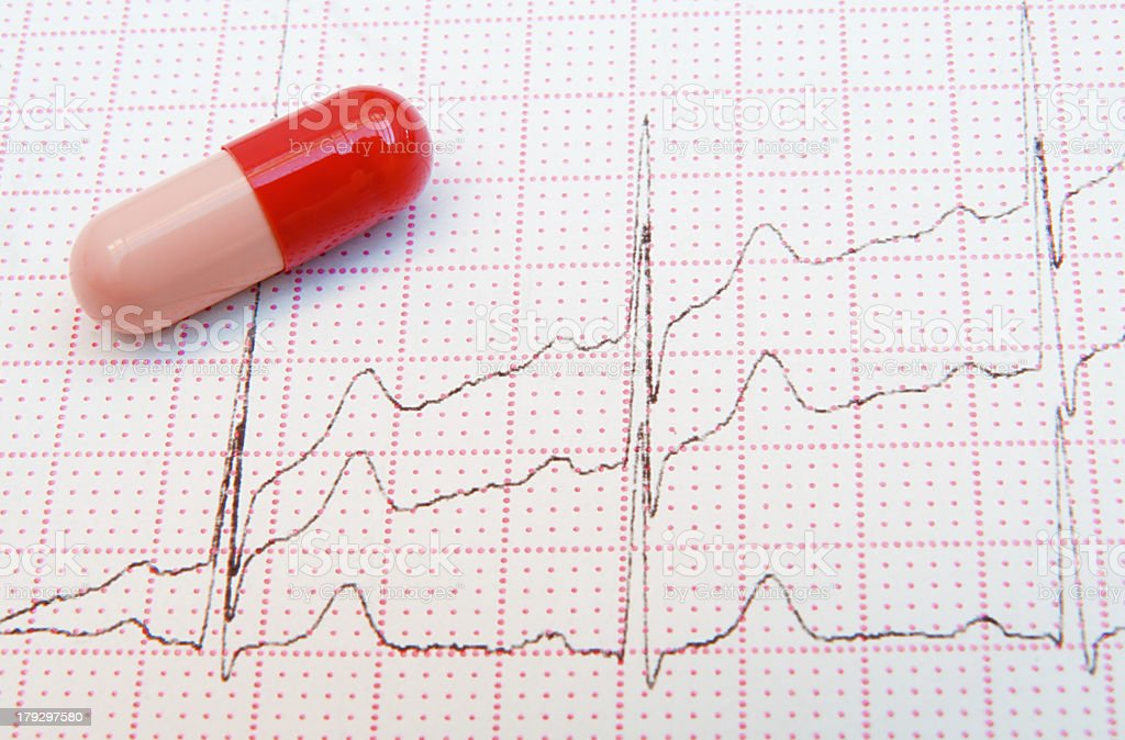 Red Pill raises the Heart Rate stock photo