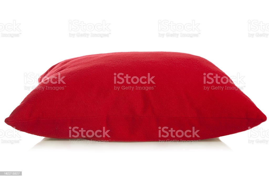Red pillow royalty-free stock photo