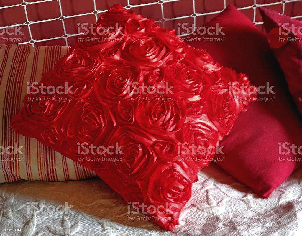 Red pillows royalty-free stock photo