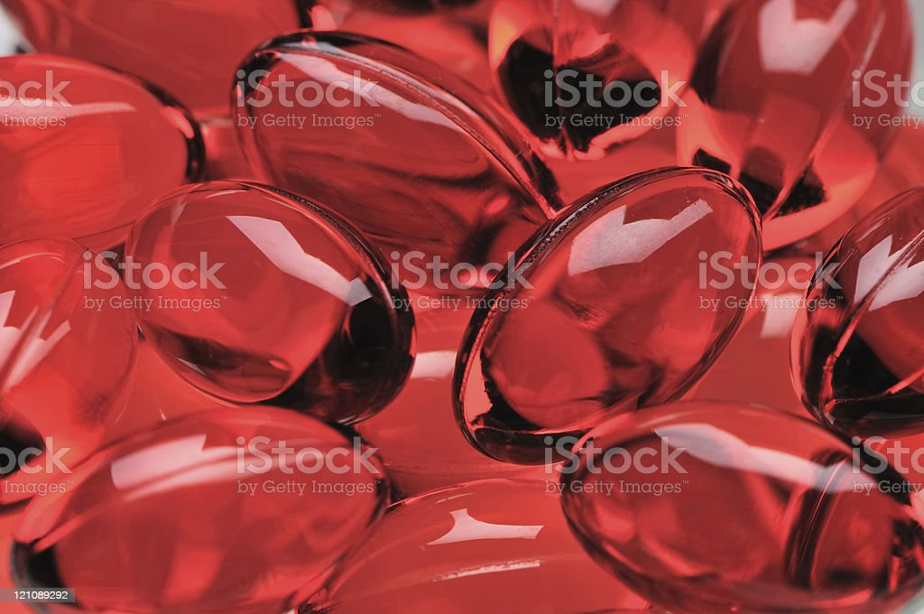Red pills - full frame royalty-free stock photo