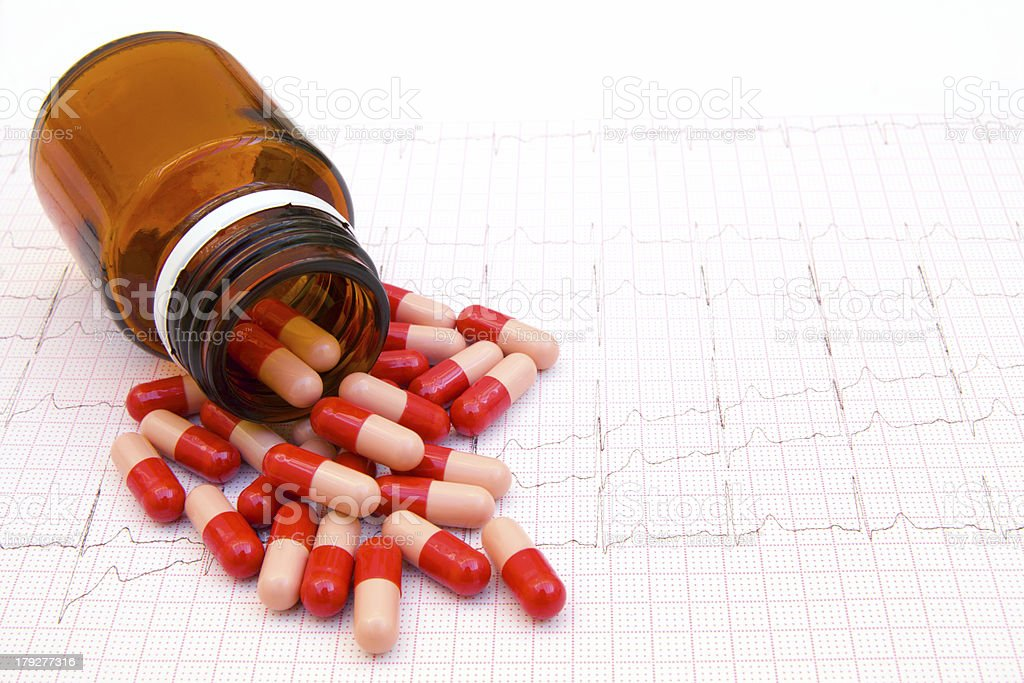 Red Pills Raise the Heartrate stock photo