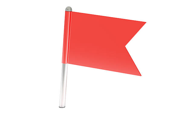 red pin flag, 3D rendering stock photo