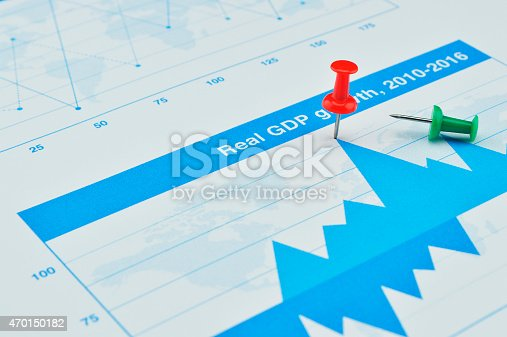 istock red pin on financial graph, Business concept, target and win 470150182