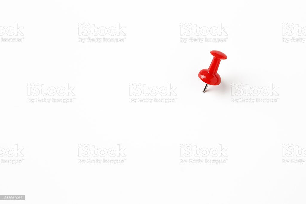 red pin on the white stock photo