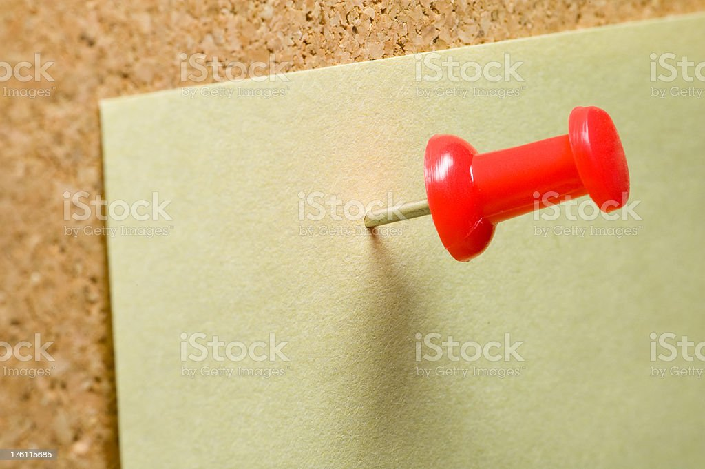 Red pin royalty-free stock photo