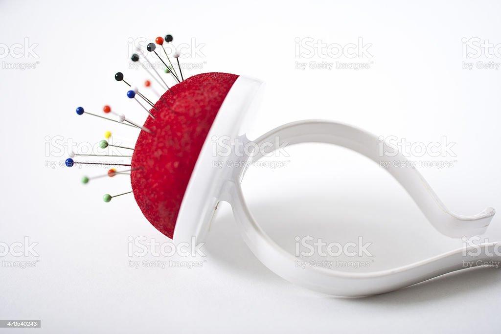 Red pincushion - foto de acervo