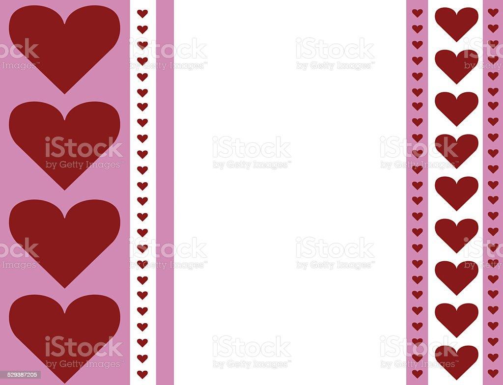 Rossa E Bianca A Forma Di Cuore Rosa San Valentino Sfondo