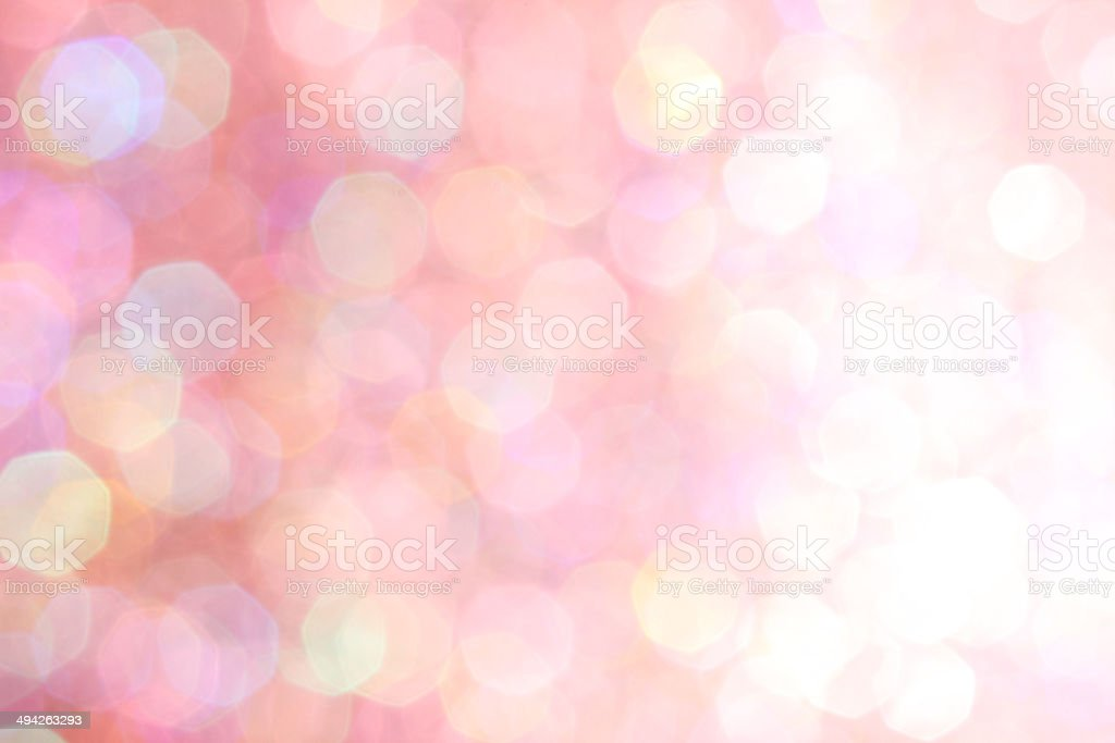 Red, pink, white, yellow and turquoise soft lights abstract background stock photo