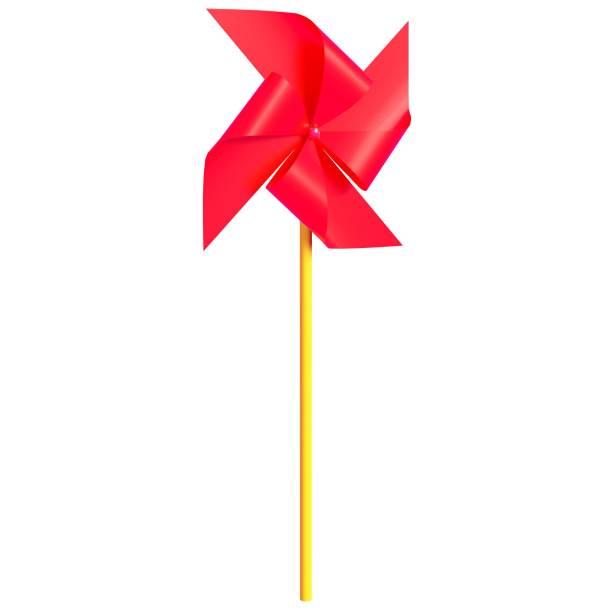 Red pinwheel - foto stock