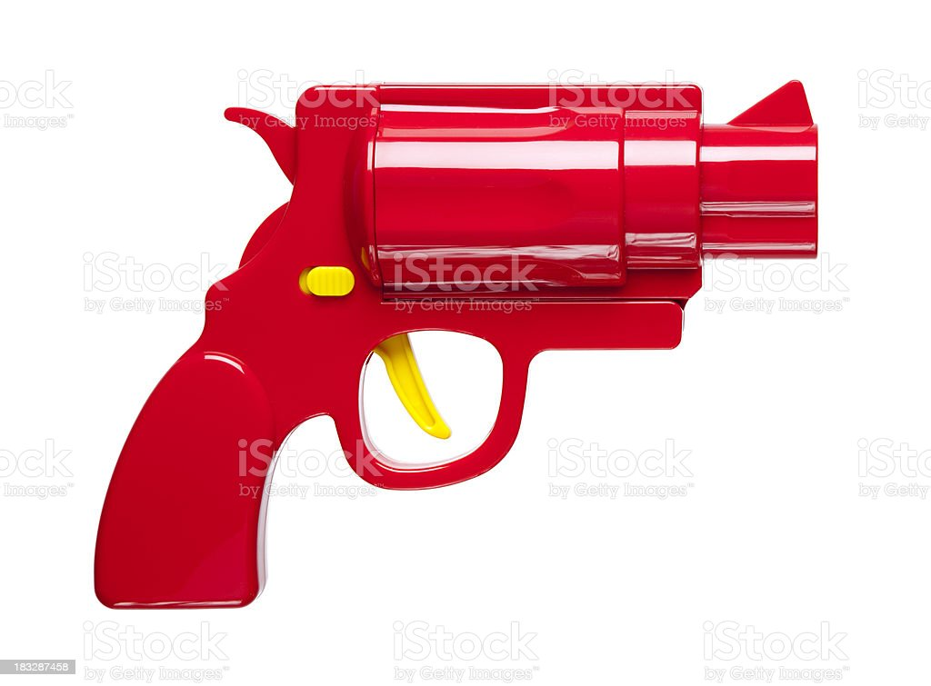 Red pistol royalty-free stock photo
