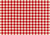 Red Plaid Fabric background textured