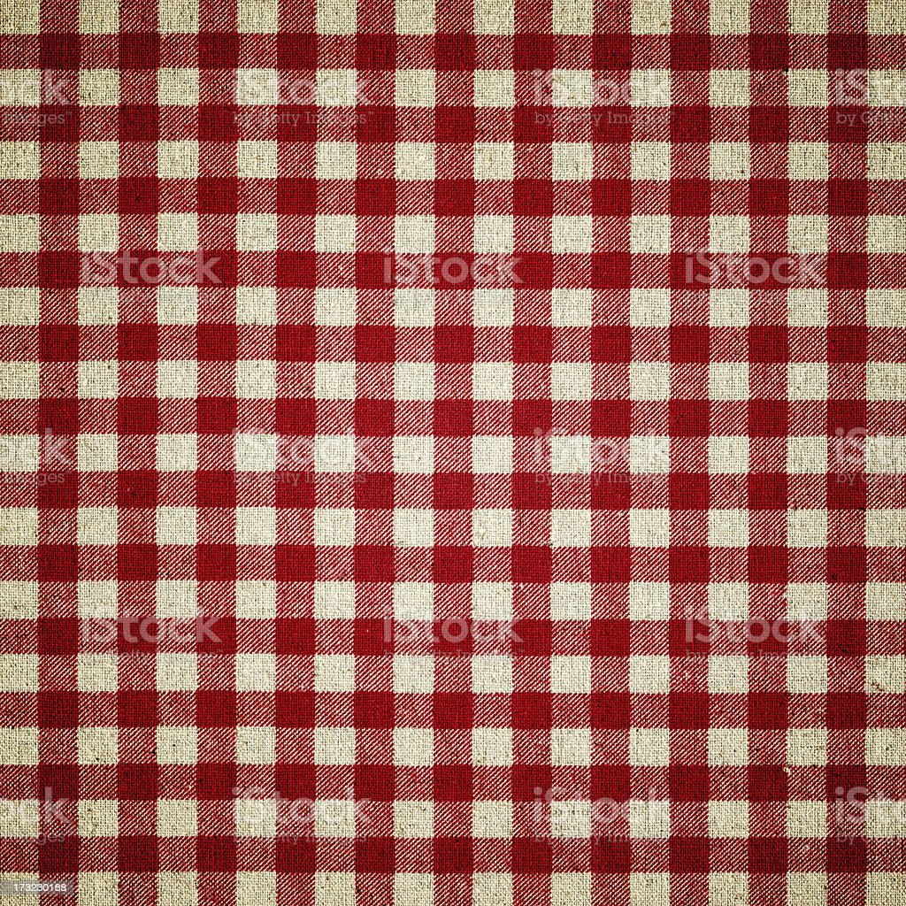 Red Plaid Fabric stock photo