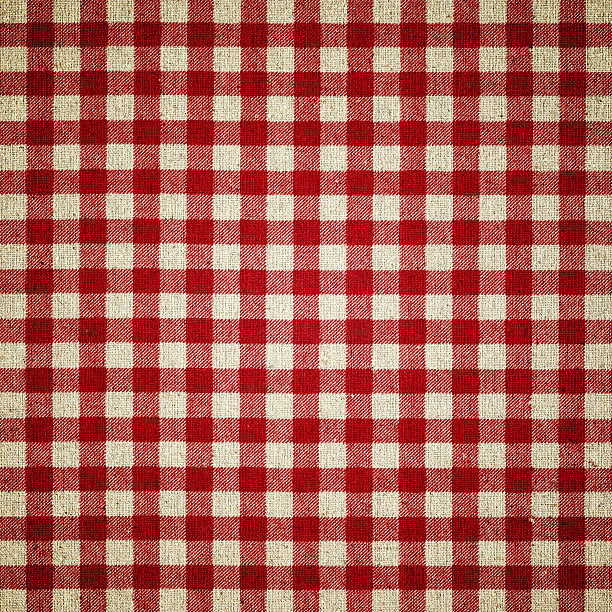 Red Plaid Fabric ★Lightbox: Textures & Backgrounds plaid stock pictures, royalty-free photos & images