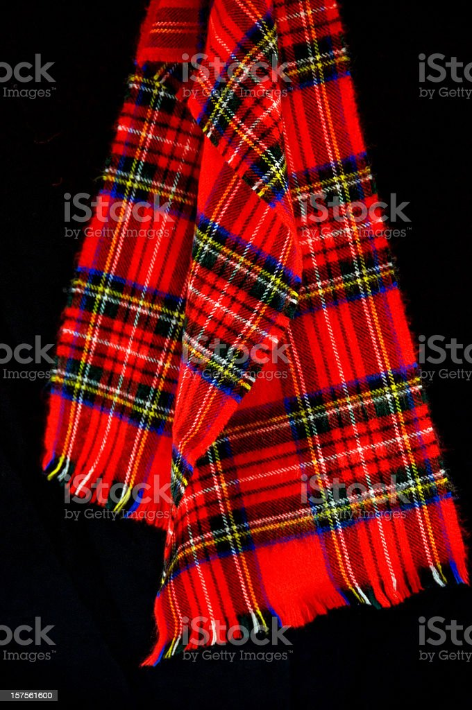 Red Plaid Scarf royalty-free stock photo