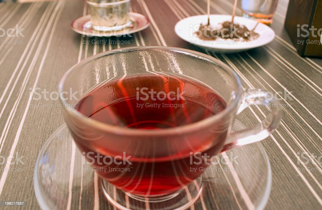 red plant tea royalty-free stock photo