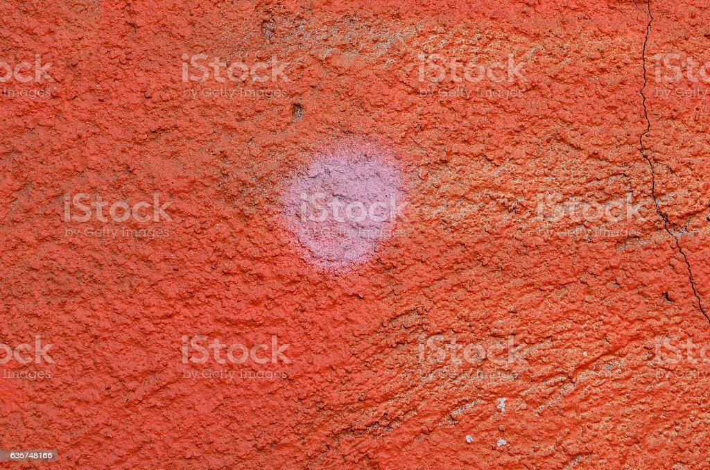 Red plastered wall stock photo