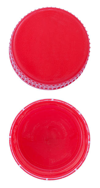 red plastic bottle caps - plastic cap stock pictures, royalty-free photos & images
