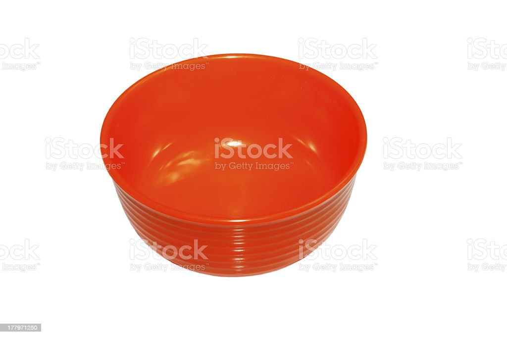 red plastic bowl royalty-free stock photo