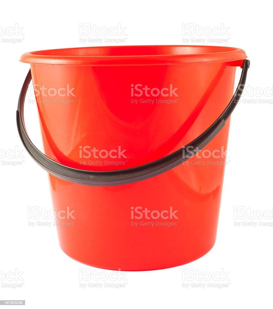 Seau en plastique rouge - Photo