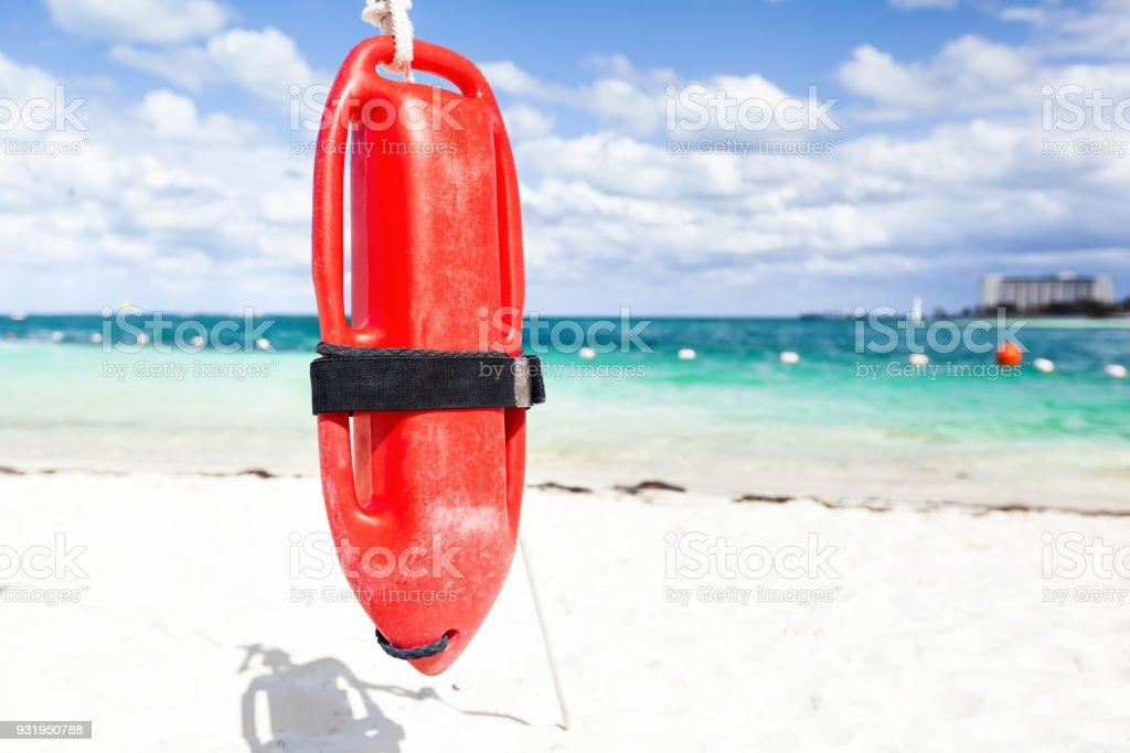 Red plastic buoy for a lifeguard - foto stock