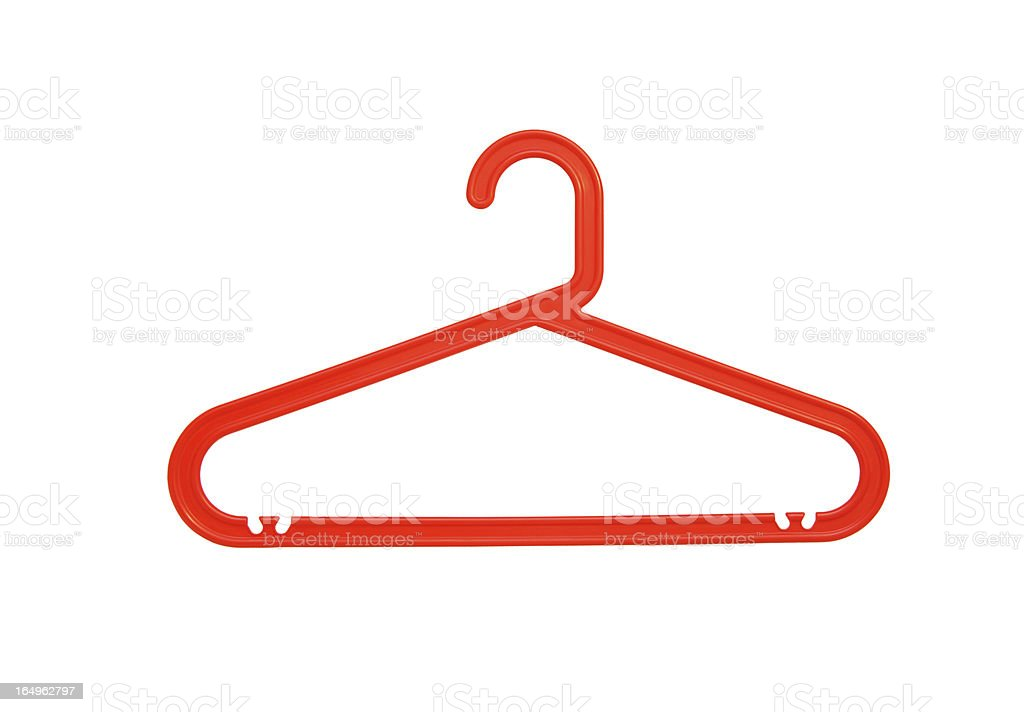 red plastic clothes hanger royalty-free stock photo