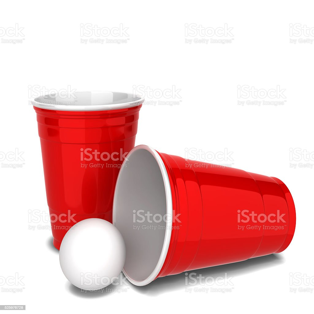 Red plastic cup stock photo
