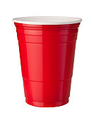 istock Red Plastic Cup (clipping path) 97907999
