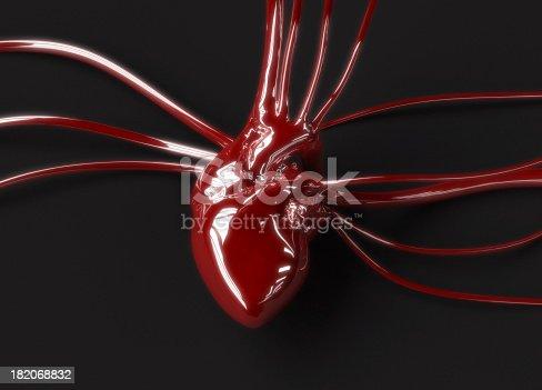 istock Red plastic heart 182068832