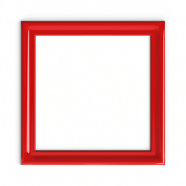 red plastic picture frame - square stock pictures, royalty-free photos & images