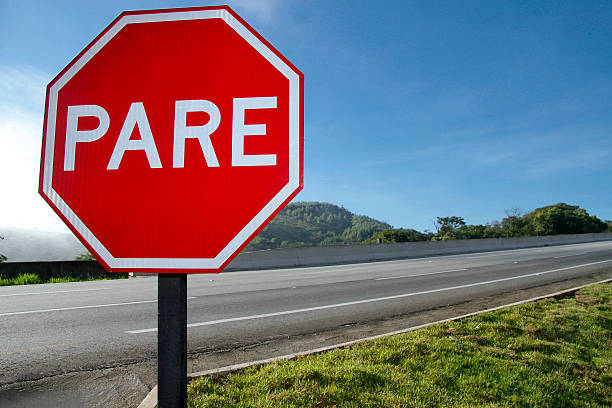 red plate stop pare 8803 - stop sign stock pictures, royalty-free photos & images