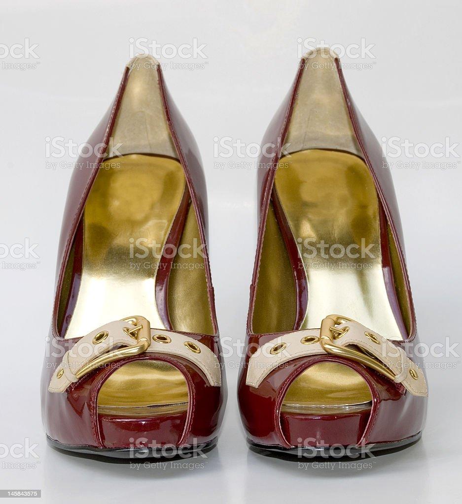 Red platform high heels royalty-free stock photo