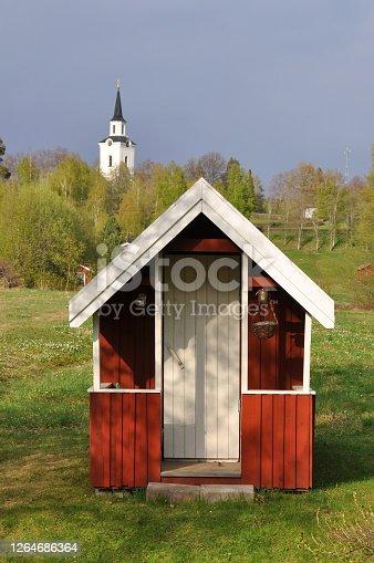 istock Red playhouse 1264686364