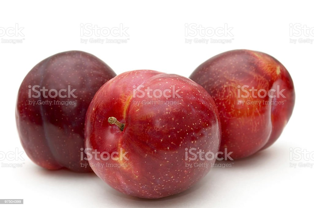 Red plums. royalty-free stock photo