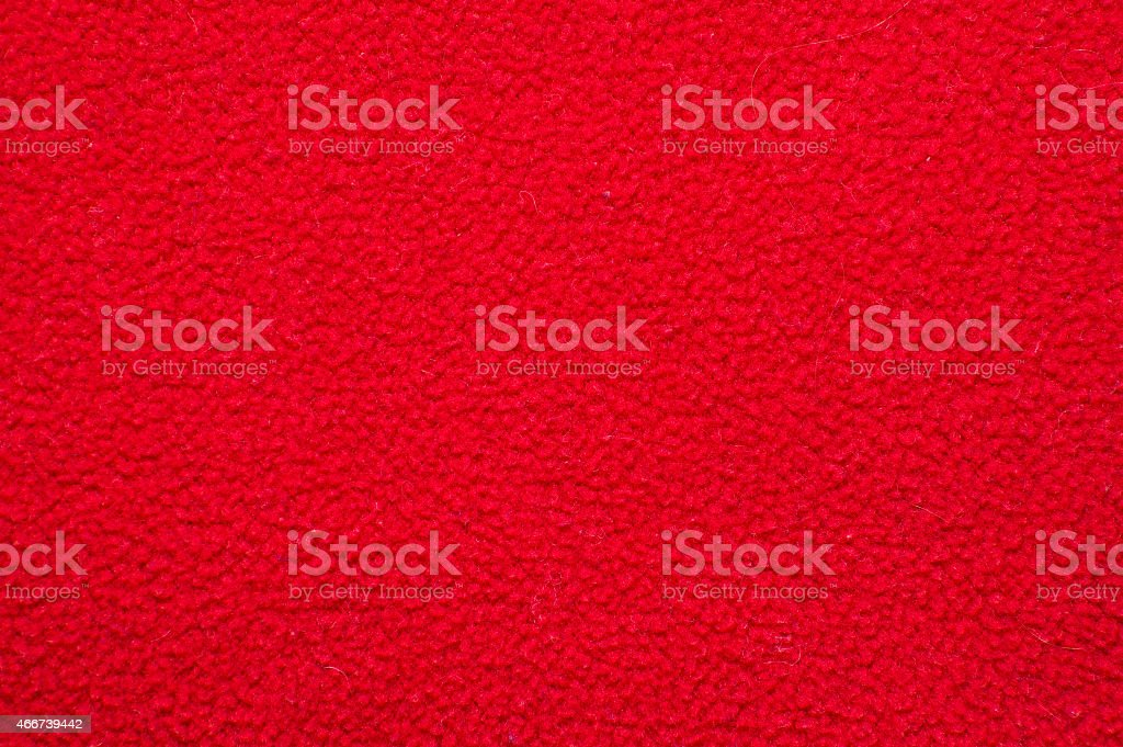 Red plush or wool texture stock photo