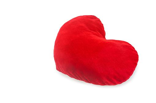 Red plush pillow